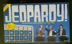 Details about Vintage JEOPARDY Board Game Sealed 1986 #5454 Pressman 2nd  Edition Trivia