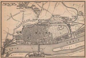 Shop For Cheap Mainz Environs Umgebung Rhineland-palatinate.deutschland 1903 Map Sturdy Construction Mayence