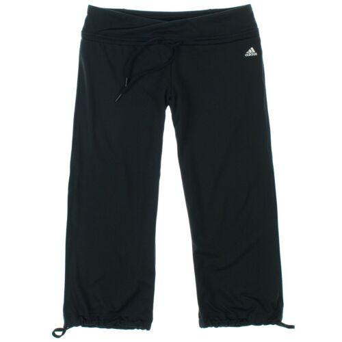Adidas Womens Climalite Capri Pants Black//Silver Logo