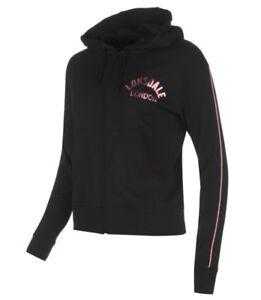 Details zu Lonsdale London Damen Jacke Sweater Schwarz Pink alle Größen Neu mit Etikett