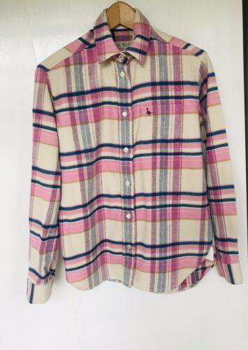 8 Brushed Wills amp;white Boyfriend Fit p R r Jack Pink blue Cotton Shirt £68 aq5TA0n