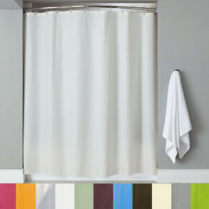 Image Is Loading PEVA Shower Curtain Liner W Magnets Solid Color