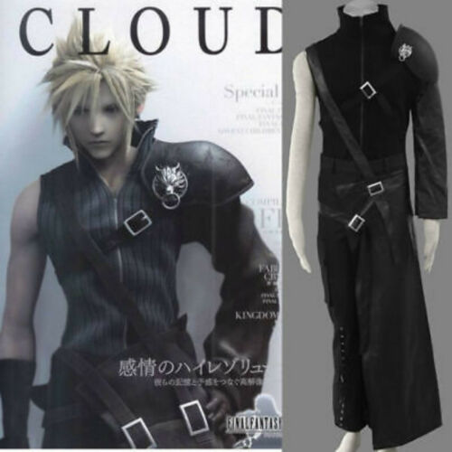 HOT!! Final Fantasy Vii Cloud Strife Men/'s cosplay costume Free Shipping