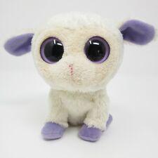 69efa033ede item 6 Ty Beanie Boo Clover Lamb Sheep cream purple white soft toy plush  small 6