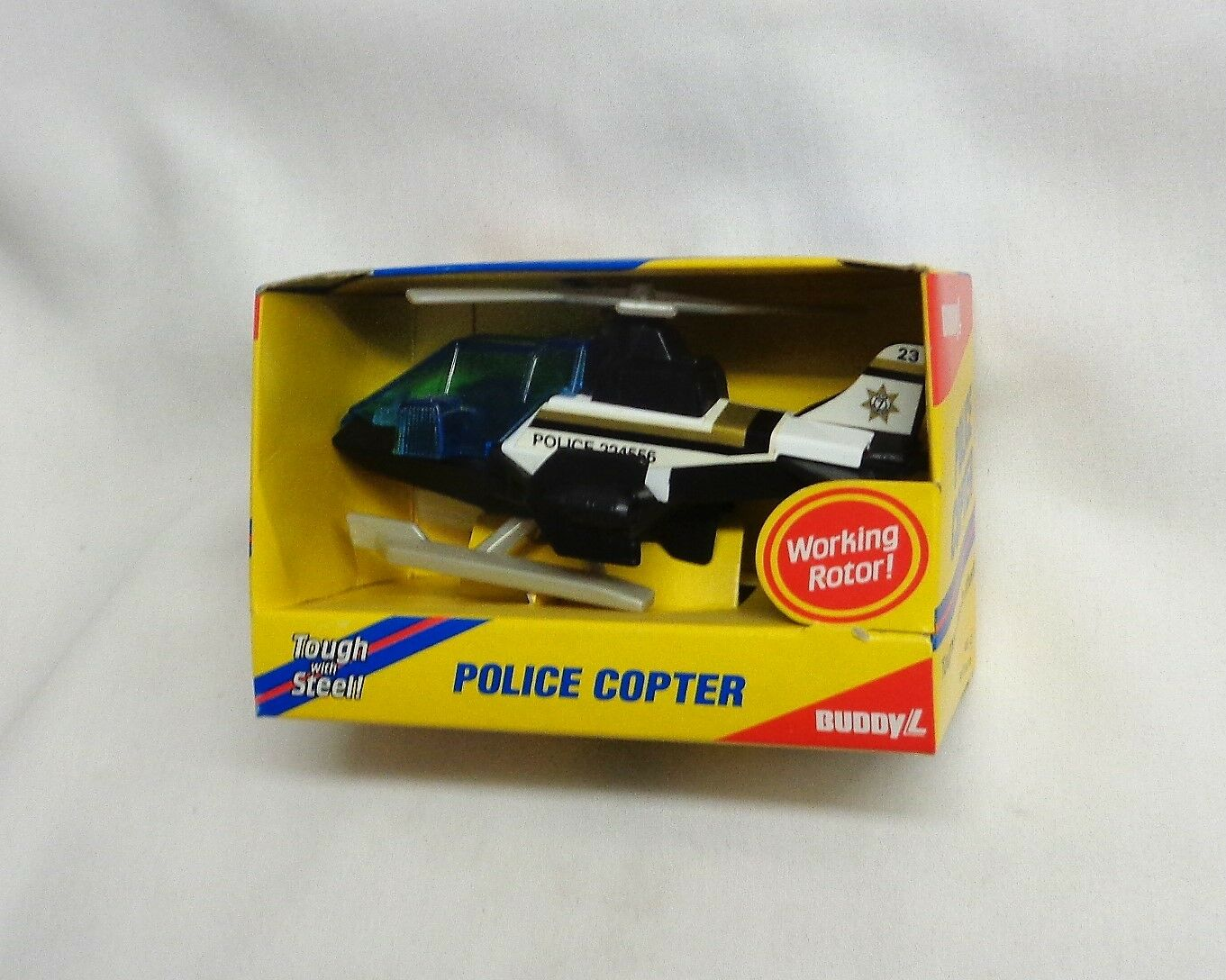 Rare NEW 1989 1989 1989 Vintage Buddy L Police Copter Helicopter Boxed Mint FREESHIP 70a931
