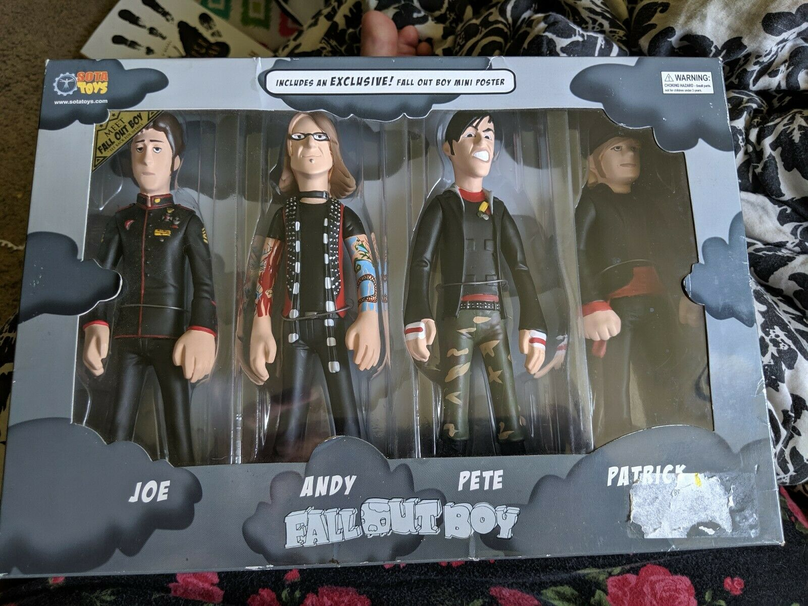 2006 Rare Collectible Fall Out Boy Complete Action Figure Set