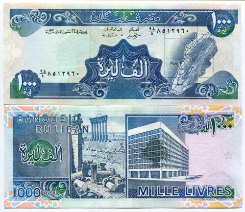 LEBANON 1000 1,000 LIVRES 1992 P 69 UNC