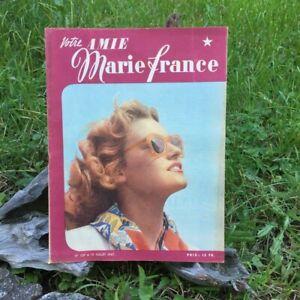 Votre-Amie-Marie-France-N-139-15-Juillet-1947-Ancien-Magazine-Francais