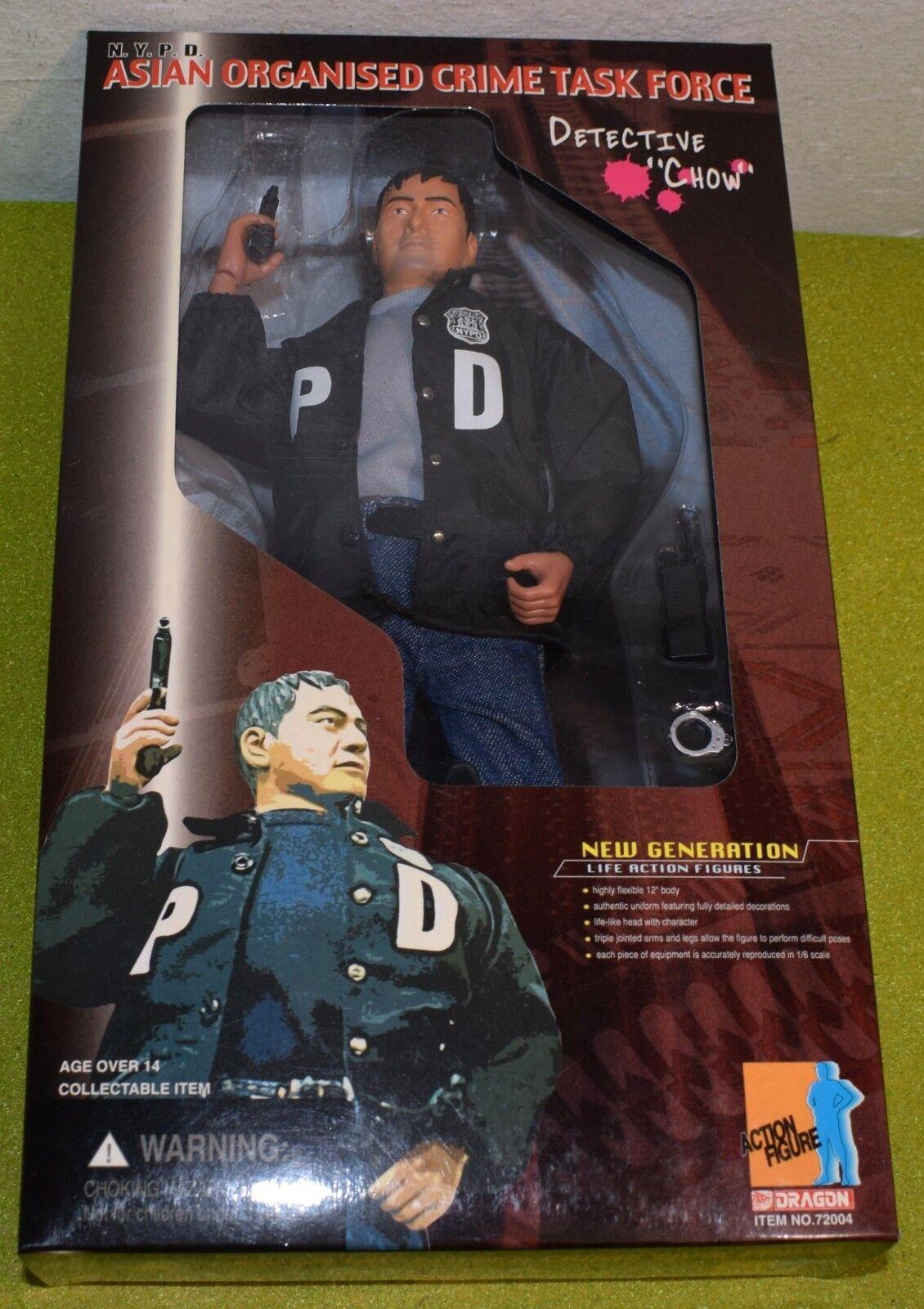 Dragon 16 SCALA MODERNA noi DETECTIVE Chow NYPD asiatico la criminalità organizzata TASK FORCE