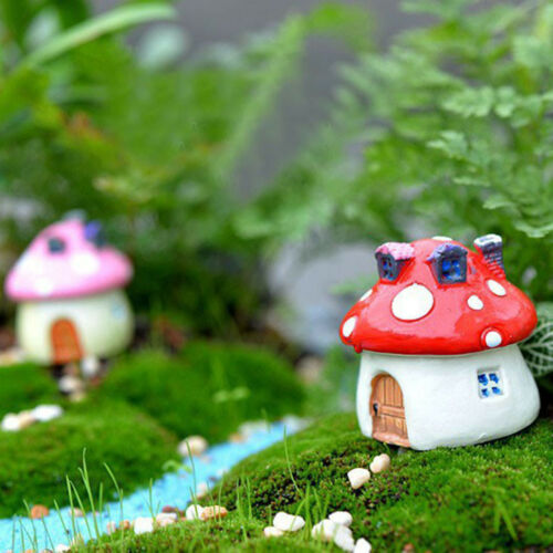 3 Size Mushroom Miniature Garden Ornament DIY Craft Pot Fairy Dollhouse Decor AB