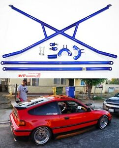 X-Bar-c-Pillar-bar-Lower-Bar-Rear-Crossbar-88-91-Honda-Civic-CR-X-EF-JDM-SI