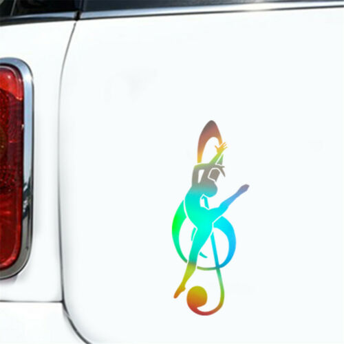 Elegant Music Notes Dancer Art Studio Wall Decor Car Laptop Vinyl Decal Sticker
