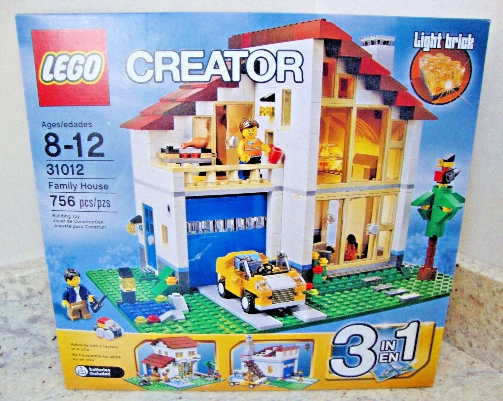 LEGO CREATOR CREATOR CREATOR FAMILY HOUSE VILLA 3-in-1 SET  31012- RETIROT/Sealed Imperfect Box 56ac5c