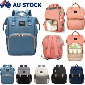 GENUINE-LAND-Nappy-Bag-Multifunctional-Baby-Diaper-Changing-Backpack-Mummy-AU