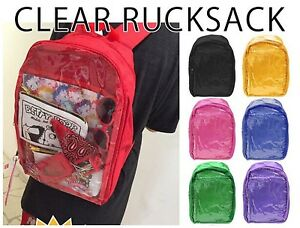 Clear Rucksack Ita Bag Black Can Badge Keychain Plush Harajuku