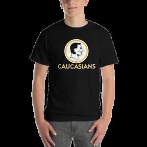 Image is loading Washington-Caucasians-Redskins-Funny-Men-039-s-T-shirt 415a7716f