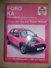 FORD KA KA1 KA2 KA3 1299cc Petrol ENGINES HAYNES REPAIR MANUAL 1996-2002 P-52
