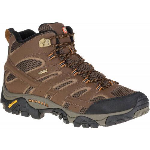Brown Mens Merrell Moab 2 Mid Gore-tex Mens Walking Boots