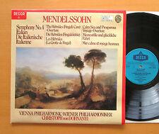 SXDL 7500 Mendelssohn Symphony no. 4 Italian etc Dohnanyi 1979 NM/EX Decca