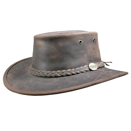 Barmah 1060 Foldaway Bronco Waterproof braun Leather Bush Hat Australia