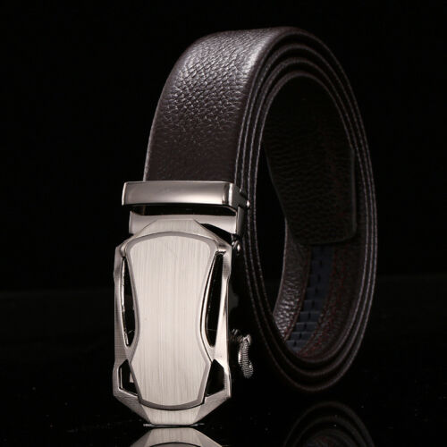 New Men/'s Belt 100/% Genuine FULL Cow Leather Soft Classic Black//Brown
