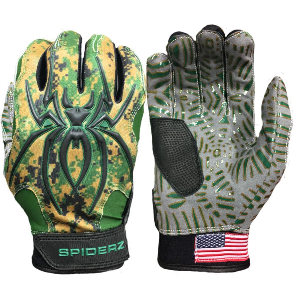 Spiderz HYBRID WEBTAC PALM XXL Batting Gloves  verde Camo XXL PALM b18b44