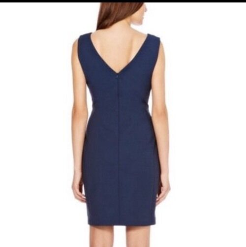 b6642580c3ef9 ... BNWT Coast Size 14 Augustine Dress Navy Fitted, Shift Smart Office Work  40Eu ...