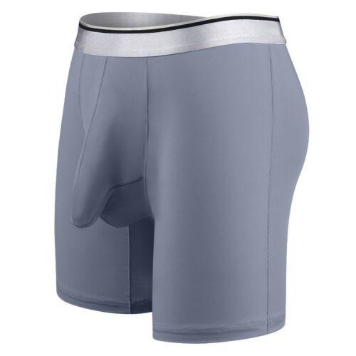 Hommes Taille Plus Ardennes Pouch Slips Glace Soie Long Leg Boxer Shorts Sous-vêtements
