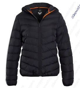 Boys-Padded-Coat-Quilted-Lined-Hooded-Jacket-Age-7-8-9-10-11-12-13-Black