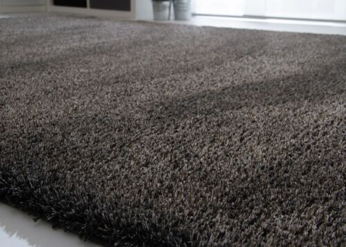 Teppich Satin Lines neu für Wohnzimmer in Grau Creme Silber und Anthrazit