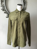 $195.00 Haute Hippie Haute Hoodie Shirt Top Blouse Military Size Xs 100% Cotton