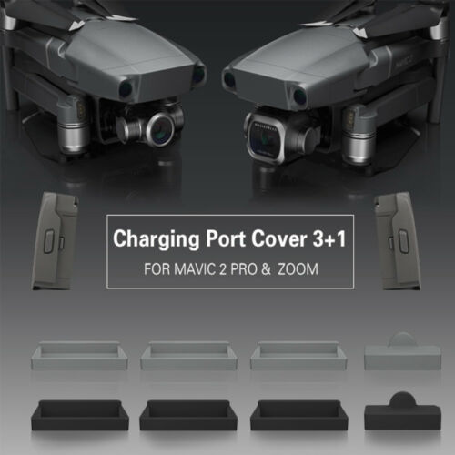 3+1 Silicone Dust Plug Cover Body Protector Charging Port for DJI MAVIC 2 PRO