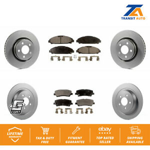 Rear Coated Drilled Slotted Disc Brake Rotors And Ceramic Pads Kit Ford Mustang