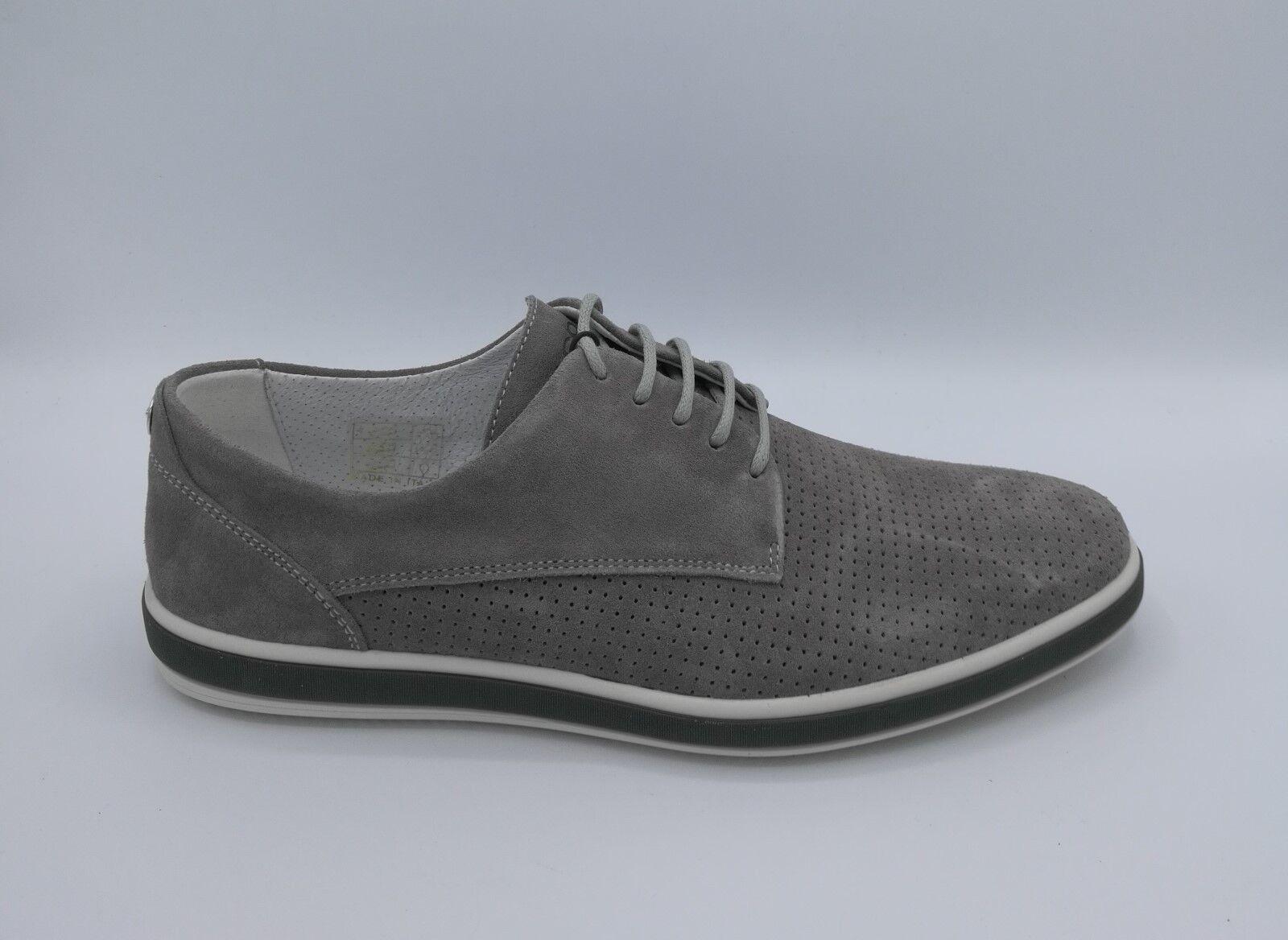 Igi & de Co 1108922 Zapatos abrochada de & ante micro-perforado gris 3f28e9