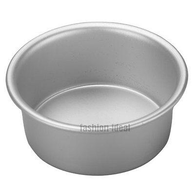 "4"" Round Cake Mousse Pan Tin Bread Baking Mold Kitchen Cooking Tool Aluminum #TC"