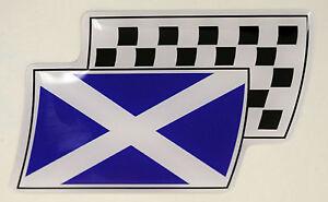 Scotland Flag Domed Gel Stickers Saltire Cross Car Vinyl Universal Decal 65mm