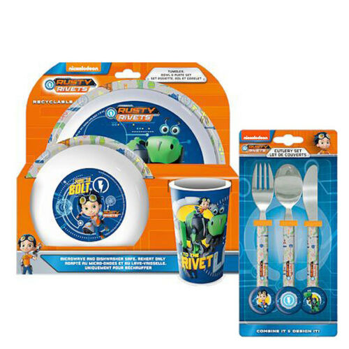 NEW Rusty Rivets 6 Piece Tableware and Cutlery Set