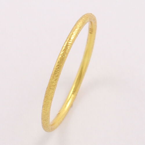 925 Sterling Silver 1.5 mm plain band Stackable Gold Plated Ring Choose Any Size