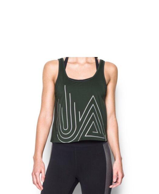 b1ec45103e744 Under Armour Women s UA Fly-by 2.0 Middy Graphic Tank Top Shirt Medium