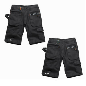 78c814091d Scruffs Ripstop Trade Work Shorts TWIN PACK Black Multiple Pockets ...