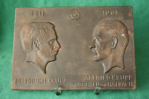 Friedrich-amp-Alfried-Krupp-antike-Gussplatte-Eisenguss-Friedrichshuette-Laasphe