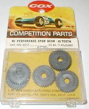 Box of 6  Ultra Thin Hi Performance Spur Gear 40 Tooth by COX #3317 SLOT CAR NOS