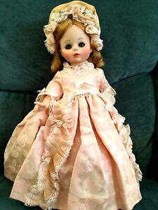 "Madame Alexander Madame Doll Vintage Pink Brocade Dress Blonde Hair 1965 13  1/2"" | eBay"