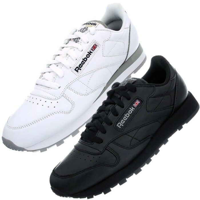 Reebok Classic Classic Classic Leather Bianco o Nero Uomo Donna  Fashion Scarpe da ginnastica Scarpe da lavoro 9daefb