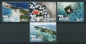 Tokelau-2018-Gomma-integra-non-linguellato-Tokelau-DAL-CIELO-4v-Set-TURISMO-PAESAGGI-SPIAGGE-ALBERI