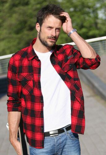 Brandit Check Shirt flanelhemd rouge-noir baumfällerhemd Carreaux