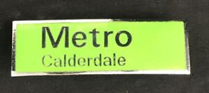 METRO CALDERDALE WEST YORKSHIRE MOTOR SERVICES BUS COACH CAP BADGE