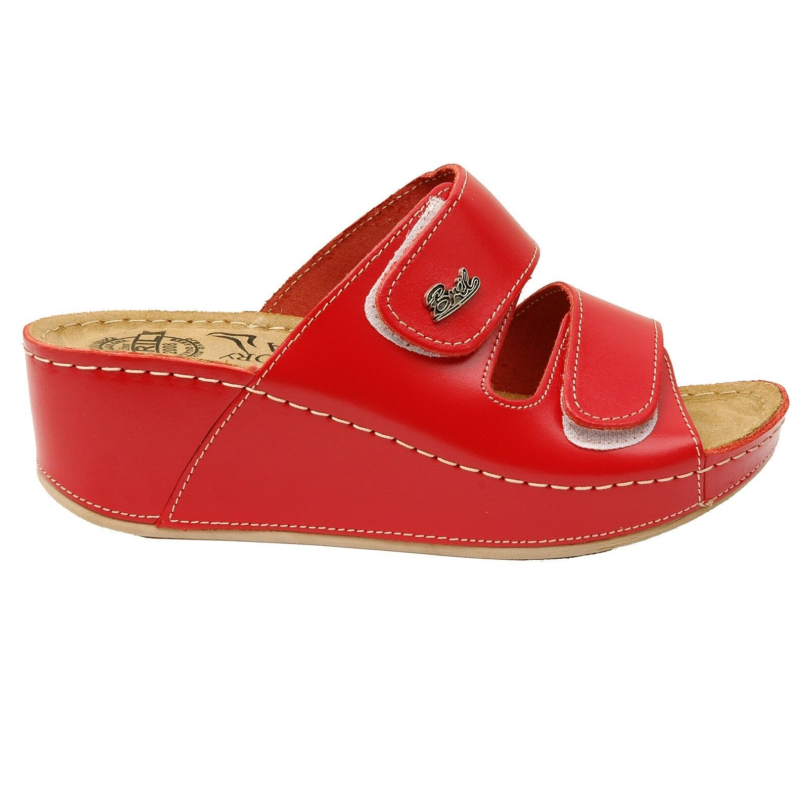 Dr Punto Damens Rosso BRIL D112 Damens Punto Leder Slip On Sandale Clogs Mules Slippers, ROT e8b3eb