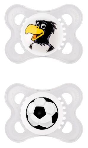 """MAM Fussball /""""DFB/"""" Schnuller Original Silikon DP /& Clip /& Babyflasche Fussball"""