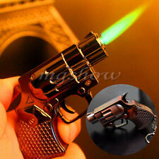 Revolver Pistol Gun Shape Jet Flame Windproof Cigar Cigarette Butane Lighter Hot